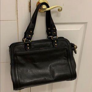 Steven Allen black leather bag